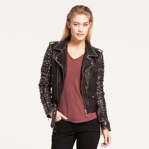 Scotch & Soda Studded leather jacket, size S